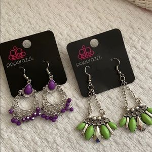 Colorful dangle earrings bundle